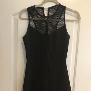 Elliatt black dress with peplum in back